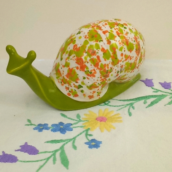 Vintage ceramic snail
